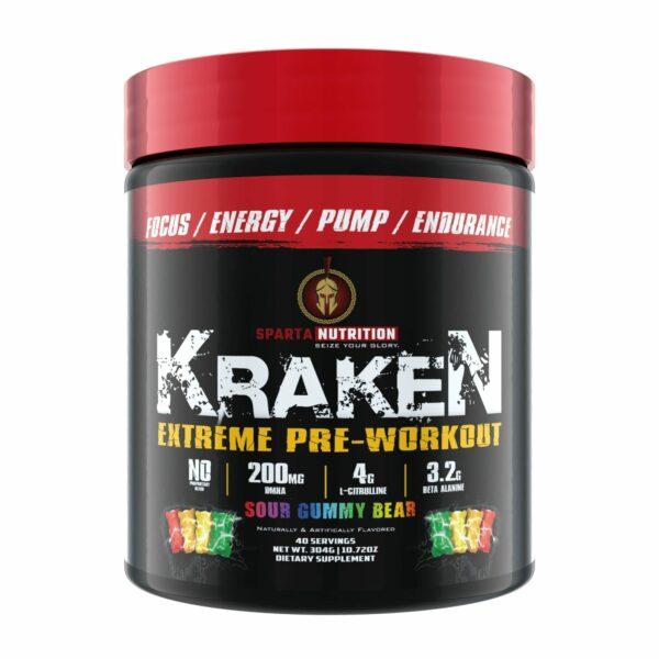 Sparta Nutrition Kraken Pre Workout - Sour Gummy Bear - 40 Servings