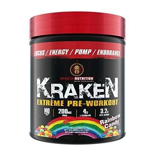 Sparta Nutrition Kraken Pre Workout - Rainbow Candy - 40 Servings-0