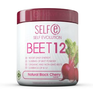 Selfe Beet 12 - Beetroot Powder Supplement Plus Vitamin B12 - Black Cherry - 30 Servings-0