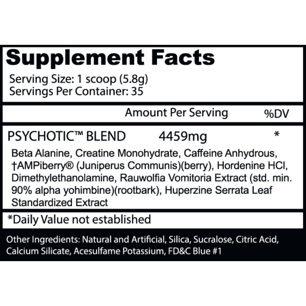 Psychotic Pre Workout by Insane Labz - Cotton Candy - 35 Servings-2852