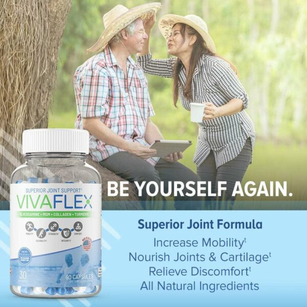 VivaFlex Superior Joint Support - 14 Day Trial Size 42 Capsules - Limited Offer-3164