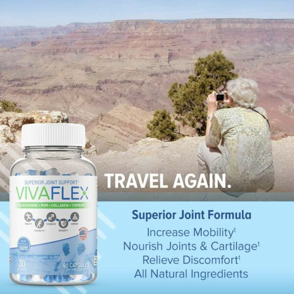 VivaFlex Superior Joint Support - 14 Day Trial Size 42 Capsules - Limited Offer-3163