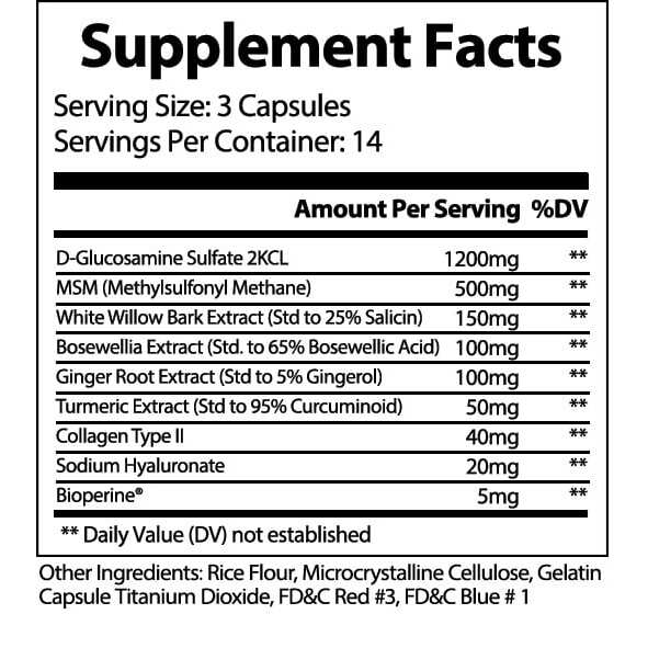 VivaFlex Superior Joint Support - 14 Day Trial Size 42 Capsules - Limited Offer-3138