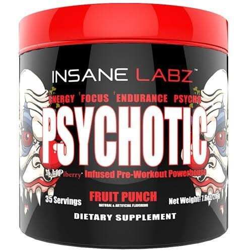 Psychotic Pre Workout by Insane Labz - Fruit Punch - 35 Servings-0