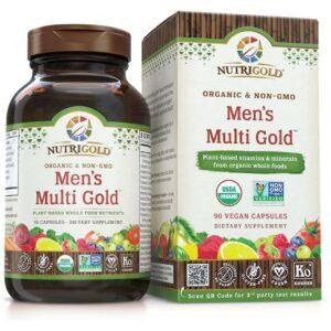 Nutrigold Mens Organic Multi Gold - 90 Veggie Caps-0