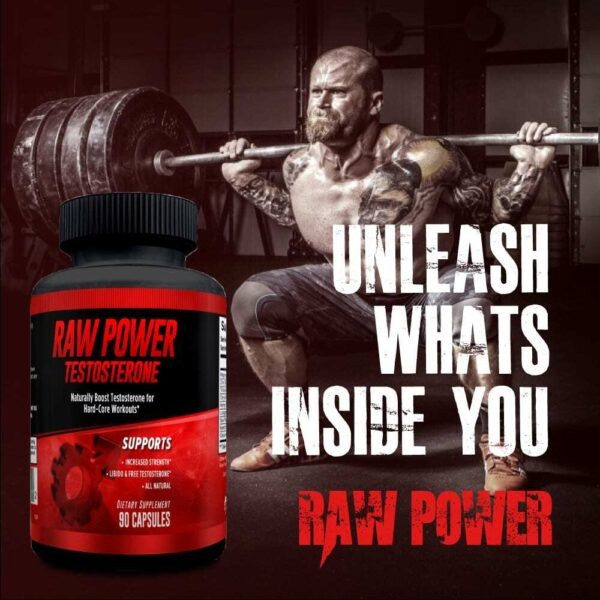 Raw Power Testosterone Booster - 90 Capsules - 30 Servings By Explicit Supplements-3222