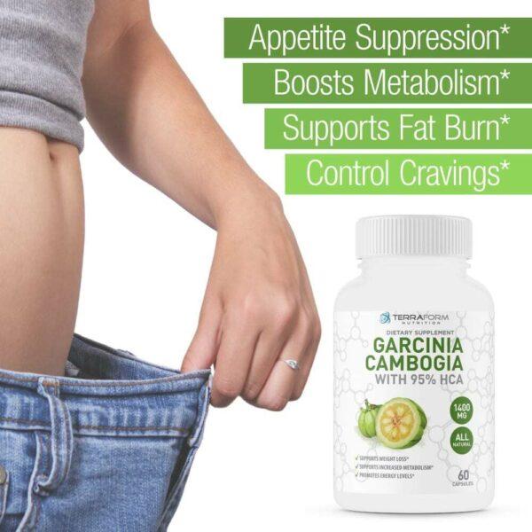 100% Pure Garcinia Cambogia Extract – 95% Natural HCA 1400mg – 60 Capsules - TerraForm Nutrition-3259