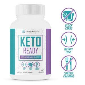 Keto Ready - Max Strength Keto Carb Blocker 1200mg – 60 Capsules - TerraForm Nutrition-0