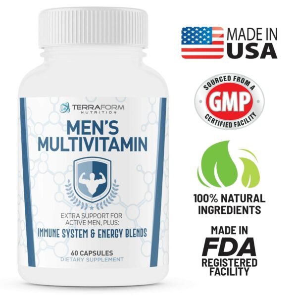 Men's Multivitamin – Daily Support for Men's Nutritional Needs – 60 Capsules-3536