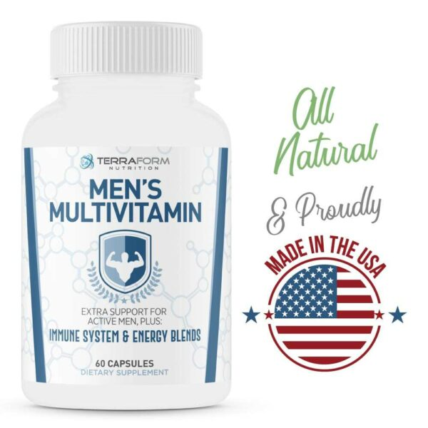 Men's Multivitamin – Daily Support for Men's Nutritional Needs – 60 Capsules-3541