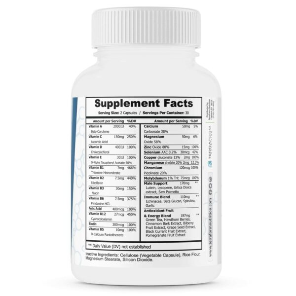 Men's Multivitamin – Daily Support for Men's Nutritional Needs – 60 Capsules-3538