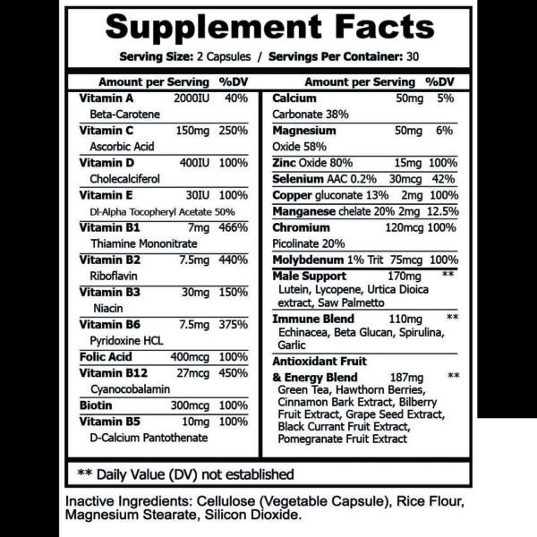 Men's Multivitamin – Daily Support for Men's Nutritional Needs – 60 Capsules-3539