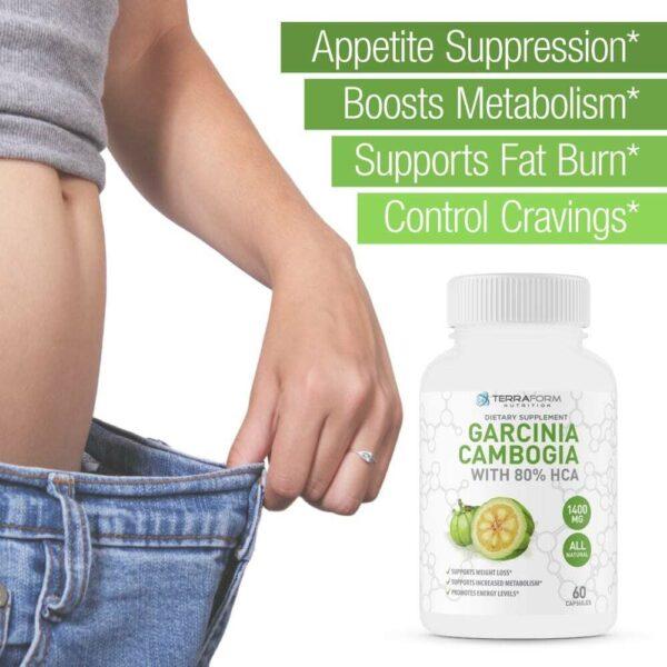 100% Pure Garcinia Cambogia Extract – 80% Natural HCA 1400mg – 60 Capsules-3673