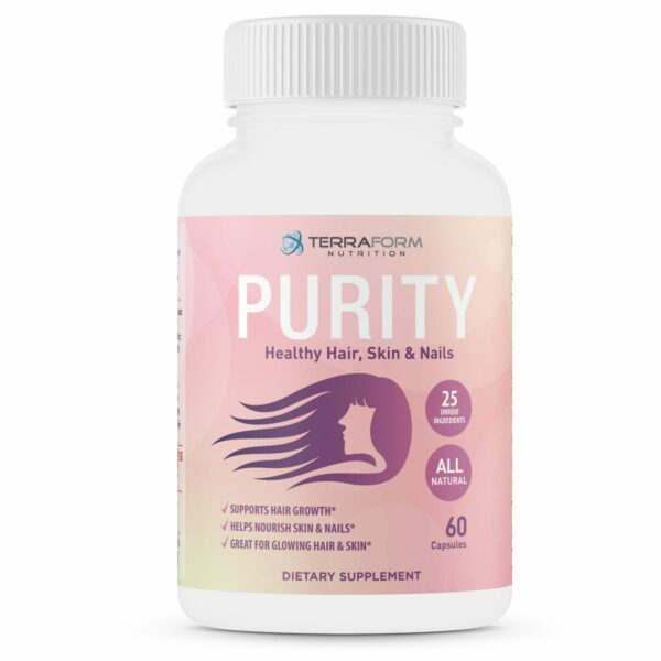 Purity - Hair Skin & Nail Vitamins – Supports Hair Growth for Women, Nourishes Skin & Nails-0