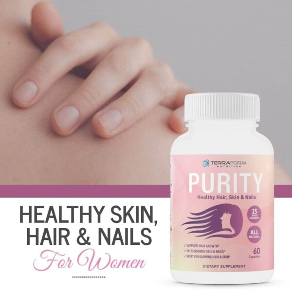Purity - Hair Skin & Nail Vitamins – Supports Hair Growth for Women, Nourishes Skin & Nails-3748